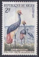 Niger 1960 Tiere Fauna Animals Vögel Birds Oiseaux Aves Uccelli Kronenkranich Kranich Crane, Mi. 2 ** - Niger (1960-...)