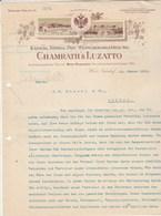 Autriche Facture Lettre Illustrée 22/1/1912 CHAMRATH & LUZATTO  Wein WIEN NUSSDORF - Austria