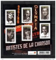 2011-N°F4605**(4605/4610) ARTISTES DE LA CHANSON - Nuovi