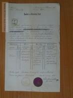 ZA176.17  Old Document Czechia - Střílky (Olomuc Kroměříž Zdounki) Terezia (1845) FABIAN - Ludovik Svoboda Farar 1871 - Birth & Baptism