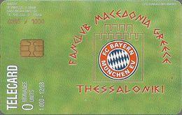 Greece - Team F.C Bayern Munchen (Fun Club Commem. Private Card), 12.1998, 1.000ex - Greece
