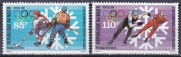 Niger 1987 Sport Spiele Olympia Olympics Calgary Winterspiele Eishockey Eisschnellauf, Mi. 1019-0 ** - Niger (1960-...)