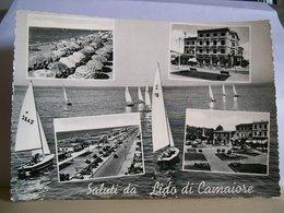 1957 - Lucca - Saluti Da Lido Di Camaiore - Vedute - Piazza Matteotti - Albergo Zara - Spiaggia - Saluti Da.../ Gruss Aus...