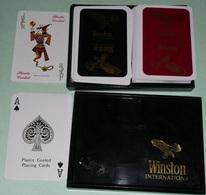 Rare Coffret De 2 Jeux De 54 Cartes, Neuf, WINSTON International, Cigarettes Tabac, As De Pique, Ace Of Spade, Joker - 54 Cards