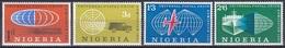 Nigeria 1961 Organisationen UPU Weltpostverein Eisenbahn Railway Autos Cars Flugzeug Plane Schiffe Ships, Mi. 105-8 ** - Nigeria (1961-...)
