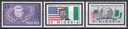 Nigeria 1964 Geschichte History Persönlichkeiten Politiker Politician John F. Kennedy Fahnen Flaggen Flags, Mi. 150-2 ** - Nigeria (1961-...)