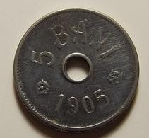 Romania 5 Bani 1905 Varnished - Roumanie