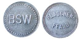 02253 GETTONE JETON TOKEN Wertmarke B.S.W. (Bundesbahn Sozialwerk) 30 Pf. FLASCHEN PFAND - Allemagne