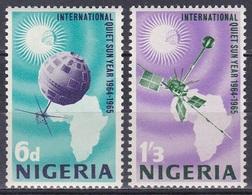 Nigeria 1965 Weltall Weltraum Space Sonne Sun Satelliten Satellites Jahr Der Ruhigen Sonne, Mi. 164-5 ** - Nigeria (1961-...)