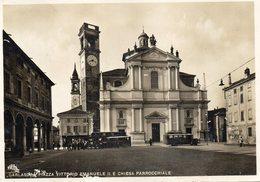 GARLASCO - PIAZZA VITTORIO EMANUELE II E CHIESA PARROCCHIALE - PAVIA - VIAGGIATA - Pavia