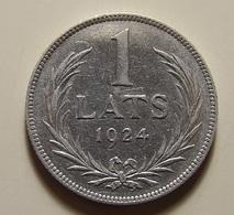 Latvia 1 Lats 1924 Silver - Lettonie