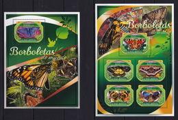 Guinea Bissau 2016 - Butterflies Borbolettas Do Mundo - Stamps MNH** XG - Papillons