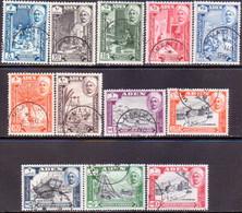 ADEN QU'AITI STATE IN HADHRAMAUT 1955 SG 29-40 (inscr.HADHRAMAUT) Compl.set Used CV £11.50 - Aden (1854-1963)