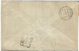 FRANCIA CC LA HAYE A MALAGA 1916 CERTFICADA  AL DORSO MAT AMBULANTE NORTE 11 CERTIFICADO Y LLEGADA A MALAGA - 1889-1931 Reino: Alfonso XIII