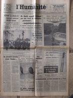 Journal L'Humanité (26 Août 1966) De Gaulle/Djibouti - Prix Agricoles - Vietnam - 1950 à Nos Jours