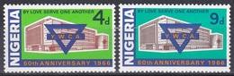 Nigeria 1966 Organisationen Religion Christentum Frauen Women YWCA Vereine Clubs, Mi. 190-1 ** - Nigeria (1961-...)