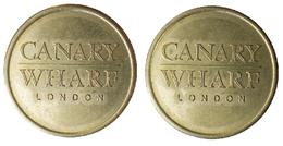 00996 GETTONE JETON TOKEN PARCHEGGIO PARKING CANARY WARF SMALL TYPE - United Kingdom