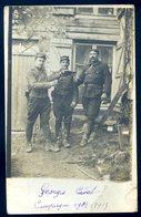 Cpa Carte Photo Du 10 Rhèges 3 Militaires Campagne 1914-1915 YN55 - Francia