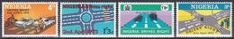 Nigeria 1972 Straßenverkehr Verkehr Traffic Autos Motorrad Fahrräder LKW Verkehrszeichen, Mi. 262-5 ** - Nigeria (1961-...)