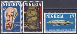 Nigeria 1972 Kunst Arts Kultur Culture Festival Kunsthandwerk Terracotta Igbo-Ukwu Harpune, Mi. 266-8 ** - Nigeria (1961-...)