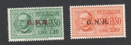 Italia Francobolli R.S.I.1944 -1945 Espressi Con Sovrastampa Del II Tipo Sass.19/II+ 20/II - Correo Urgente