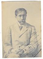 ROGER SOMMER AVIATEUR AVIATION Ancienne Photographie Avec Texte Et Signature Autographe - Aviateurs