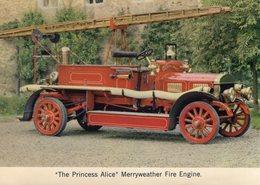 'Princess Alice' Merryweather Fire Engine   -  1912  -  CP - Camión & Camioneta
