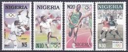 Nigeria 1996 Sport Spiele Olympia Olympics Atlanta IOC Judo Tennis Staffellauf Fußball Football Soccer, Mi. 666-9 ** - Nigeria (1961-...)