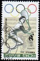 KOREA NORTH - Scott #3565 Atlanta '96 Olympic Games, Tennis / Used Stamp - Summer 1996: Atlanta