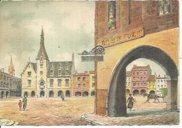 BARRE DAYEZ 2240 E - LIBOURNE - LA PLACE ALBERT-SURCHAMP ET L'HOTEL DE VILLE   - Déssin: BARDAY - Andere Zeichner