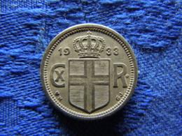 ICELAND 25 AURAR 1933, KM2.1 - Island