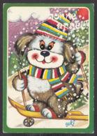 97114/ NOUVEL AN, Chien Faisant Du Ski, Illustrateur BUKI - New Year