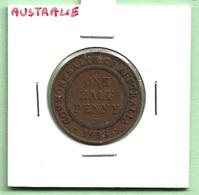 AUSTRALIE  1/2  PENNY  1938  GEORGE VI - Monnaie Pré-décimale (1910-1965)