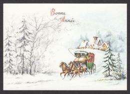 97141/ NOUVEL AN, Chevaux, Attelage - Nieuwjaar