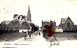 AVELGHEM - Eglise Et Le Pensionnat - Carte Circulée En 1903 - Avelgem