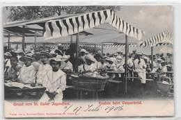 Gruss Vom St. Galler Jugenfest - Knaben Beim Vesperbrod - St. Gallen 1906 - SG St. Gallen