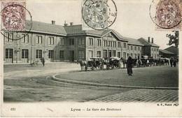 LYON (69) - La Gare Des Brotteaux Avec Attelages De Chevaux - Autres