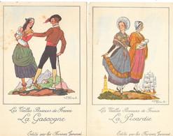 Lot 2 Chromo Provinces De France: Publicité Farines Jammet, Illustration Jean Droit: Le Comté De Foix, La Savoie - Cromo