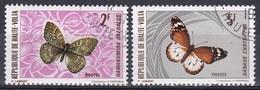 Obervolta Upper Volta Haute Volta 1971 Tiere Fauna Animals Schmetterlinge Butterflies Papillion, Aus Mi. 335-0 Gest. - Obervolta (1958-1984)