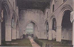 ANGLETERRE - SUSSEX - RYE CHURCH - INTERIEUR DE L' EGLISE  DOS SIMPLE PRECURSEUR 1900 - Rye