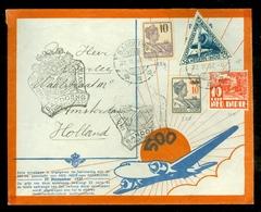 NED-INDIE * LUCHTPOST 500 Ste POSTVLUCHT  BRIEFOMSLAG Uit 1937 Gelopen Van BANDOENG Naar AMSTERDAM  (11.506c) - Niederländisch-Indien