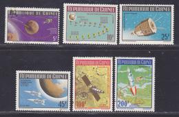 GUINEE N°  251 à 254, AERIENS N° 59 & 60 ** MNH Neufs Sans Charnière, Tâches (D8437) Cosmos, Vols Vers La Lune -1965 - Guinée (1958-...)