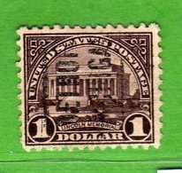 (Us2) USA °- 1922-25 - 1 D.  Yvert. 246 Type A - D.11 Su 3 Lati USED.  Vedi Descrizione - United States