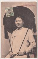 CPA- TONKIN - Hanoï - Femme Coiffée Du Grand Chapeau- 2scans - Vietnam