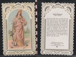 """SANTINO MERLETTATO """" SANTA FILOMENA """" (holy Cards Lace-canivets-spitzebildichen) COME DA FOTO - Collezioni"""