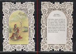 """SANTINO MERLETTATO """" SAN ATTILIO """" (holy Cards Lace-canivets-spitzebildichen) COME DA FOTO - Collezioni"""