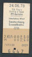 SWITZERLAND QY3895 3 Fahrkarte Billet Ticket St Gallen TB  Le Sepey Interlaken West PTT - Chemins De Fer