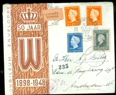 NED-INDIE LUCHTPOST BRIEFOMSLAG Uit 1948 Gelopen Van BATAVIA Naar AMSTERDAM  (11.506b) - Netherlands Indies