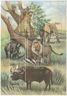 2002 Tanzania Big 5 Lion Leopard Elephant Rhino Buffalo Miniature Sheet Of 5 MNH - Tanzania (1964-...)