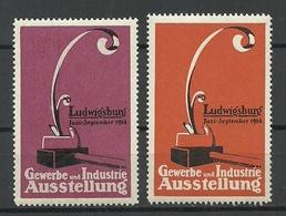 Deutschland Reklamemarke 1914 Ausstellung Gewerbe Und Industrie Ludwigsburg Farben ! MNH - Erinnofilie